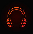 on-ear headphones red line icon headphone vector image vector image