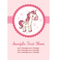 Party card with unicorn vector image vector image