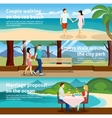 People Fall In Love Banner Set vector image vector image