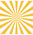 ray retro background yellow colored rays stylish vector image vector image