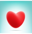 red mesh heart vector image