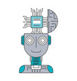 robot humanoid with microchip isolated icon vector image vector image
