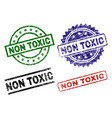 scratched textured non toxic stamp seals vector image vector image
