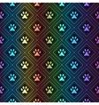 seamless animal spectrum pattern of paw footprint vector image vector image