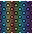 seamless animal spectrum pattern paw footprint vector image vector image