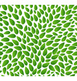 seamless leaves pattern isolated background vector image vector image