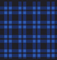 seamless pattern of blue tartan vector image
