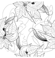 Seamless pattern with black and white vector image vector image