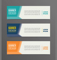 side arrow banner template design with horizontal vector image vector image