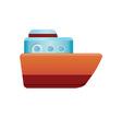 Simple boat icon vector image vector image