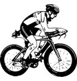 sketch of male on a bicycle vector image