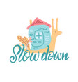 snail with his house hand drawn doodle childish vector image vector image