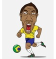 Soccer player Brazil vector image vector image