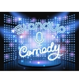 stand up comedy light wall vector image