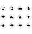 Stickers with indian icons vector image vector image