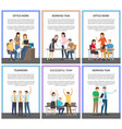 teamwork and working task vector image vector image