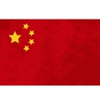 True proportions China flag with texture vector image vector image