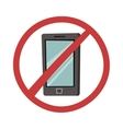 Turn off phone vector image vector image