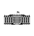 us white house sign icon america government vector image vector image