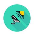 solar energy panel icon on round background vector image