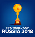 2018 fifa world cup background welcome to vector image