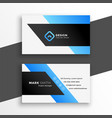 abstract blue geometric business card design vector image vector image