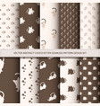 abstract choco kitten seamless pattern set vector image