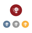 alarm icon on four colored circles and a white vector image vector image