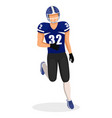 american football player in motion gridiron vector image vector image