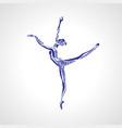 ballet girl artistic rhythmic gymnastics dancing vector image