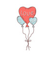 balloons in form a heart with phrase i vector image vector image
