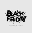 black friday sale banner poster logo dark color vector image