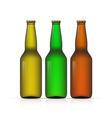 Blank Bottle on white background vector image vector image