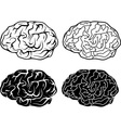 brains and electronic brains vector image