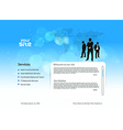 business template design vector image vector image