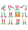 christmas elf feet santa claus helpers cute vector image vector image