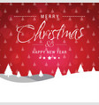christmas greetings card with red background and vector image vector image