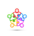 community puzzle union support vector image vector image