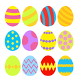 Easter eggs colorful set Isolated vector image