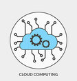 Flat design concept for Cloud Computing for vector image vector image