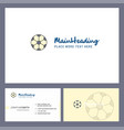 football logo design with tagline front and back vector image vector image