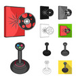 game console and virtual reality cartoonblack vector image vector image