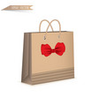 gift paper bag isolated on white background vector image vector image