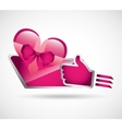 gifts online design vector image