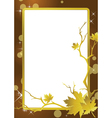 golden frame background vector image