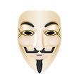 Hacker mask icon isolated on white Stylised
