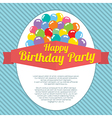 Happy Birthday Party Card vector image vector image