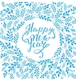 Happy new year card Hand lettering with vector image vector image