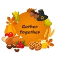 happy thanksgiving day banner vector image