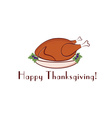 happy thanksgiving with turkey vector image vector image